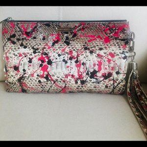 Elisabeth Weinstock Flat Clutch Snakeskin Handbag